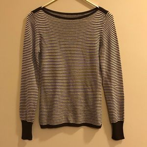 Striped Boat Neck Sweater Made in Italy